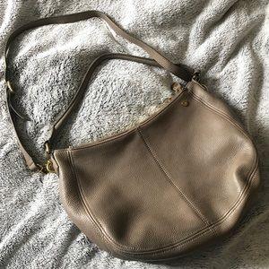 TAUPE J CREW SHOULDER BAG